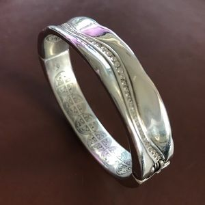 Brighton silver bangle bracelet with hinge